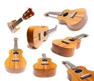 Gitarren- oder Ukelele-Sammlung Lizenzfreie Stockbilder