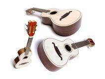 Gitarren- oder Ukelele-Satz Stockfoto