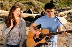 Gitarren-Paare Lizenzfreie Stockbilder