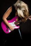 Gitarren-Rockstar stockbild