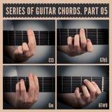 Gitarren-Spannweiten Lizenzfreie Stockfotografie