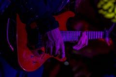 Gitarren-Spiel Stockbild