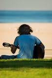 Gitarren-Spieler Stockfotografie