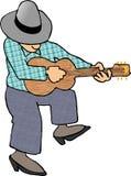 Gitarren-Spieler stock abbildung