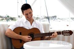 Gitarren-Spieler stockfotos
