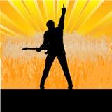 Gitarren-Stufe-Meldung Lizenzfreie Stockfotografie