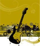 Gitarren-und Musik-Hintergrund stock abbildung