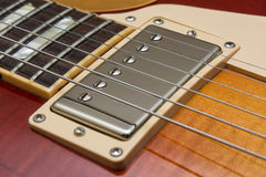 Gitarrenaufnahme Lizenzfreie Stockbilder