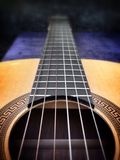 Gitarrendetail Stockfoto