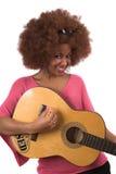 Gitarrenfrau lizenzfreies stockbild