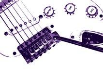 Gitarrenhintergrund. Grunge Art. Lizenzfreie Stockfotografie
