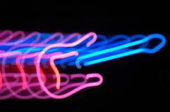 Gitarrenlicht-Zoomeffekt Stockfotografie