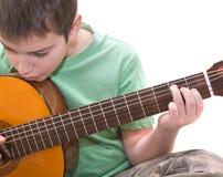 Gitarrenpraxis Lizenzfreie Stockbilder
