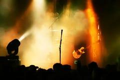 Gitarrenspieler in der Tätigkeit Stockbilder