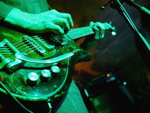 Gitarrenstadium elektrisch stockfoto