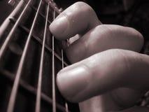Gitarrenzeichenketten Stockfoto