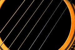 Gitarrenzeichenketten schließen oben Lizenzfreie Stockbilder