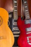 Gitarrer i studion Royaltyfri Fotografi
