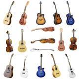 Gitarrer och fioler Royaltyfria Bilder