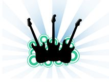 gitarrer tre Arkivbilder