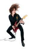 gitarrgitarristred royaltyfri bild