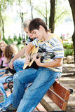 gitarrgrabbar Arkivbild