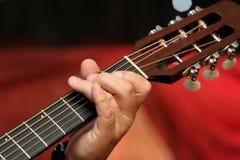 Gitarrgriff Royaltyfri Bild