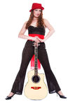 gitarrhattred Royaltyfri Fotografi