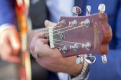 Gitarrheadstock Arkivbilder