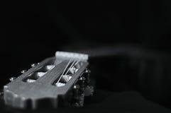 Gitarrhuvud i svartvitt Royaltyfri Foto