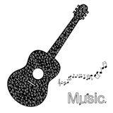 Gitarrillustration Arkivfoto