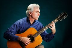 Gitarrist 12-String Stockfotos
