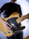 gitarrist royaltyfri foto