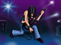 Gitarrist Stock Abbildung