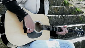 Gitarrist stock video footage