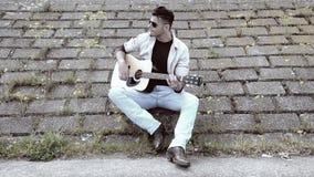 Gitarrist stock video