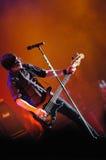Gitarrist in der Tätigkeit lizenzfreies stockbild