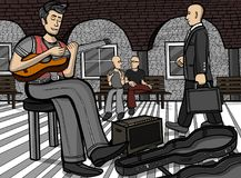 Gitarrist an einem öffentlichen Ort
