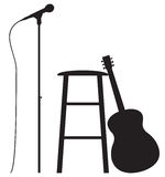 Gitarrist-Einrichtung Stockbild