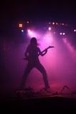 Gitarrist på etapp royaltyfria bilder