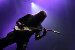 Gitarrist på etappen Royaltyfri Foto