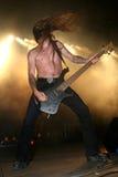 Gitarrist på konserten royaltyfria bilder