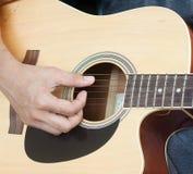 Gitarrist Plays Stockfotos