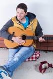 Gitarrist som samlar pengar arkivfoton