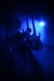 Gitarrist under konsert royaltyfri foto