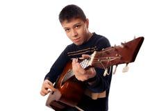 gitarristbarn arkivbild