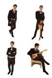 Gitarristen passar in Royaltyfri Fotografi