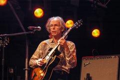 Gitarristen Steve Howe av jagruppen Royaltyfria Bilder