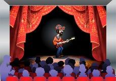 Gitarristlekgitarr Arkivbilder