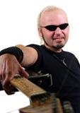 gitarristrock Arkivfoto